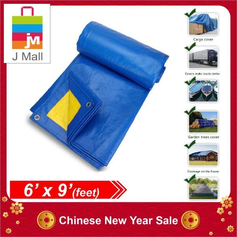 JMALL 6 X 9 Waterproof Ready Made Tarpaulin Sheet Canvas