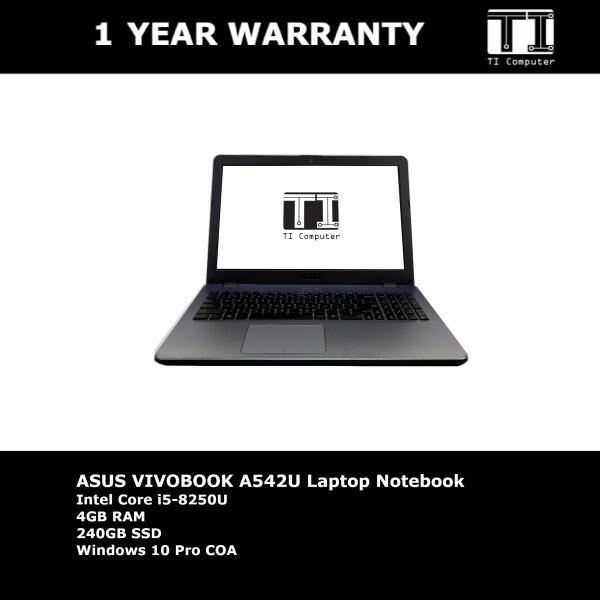 ASUS Vivobook A542U Intel Core i5-8250U 4GB RAM 240GB SSD Laptop Notebook (Refurbished) Malaysia