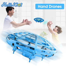 HelloKimi Induction Hand Gesture Control Flying Toys UFO Aircraft Anti-collision Sensor Induction Hand Controlled Altitude Hold Suspension Lighting Childrens Toys Gift Intelligent Hand Sensing Aircraft