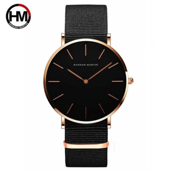 [LOCAL SELLER] 100% Original HANNAH MARTIN watch for men Japan Quartz Movement Waterproof Ultra Thin Simple Casual Stainless Steel Leather 40mm Malaysia