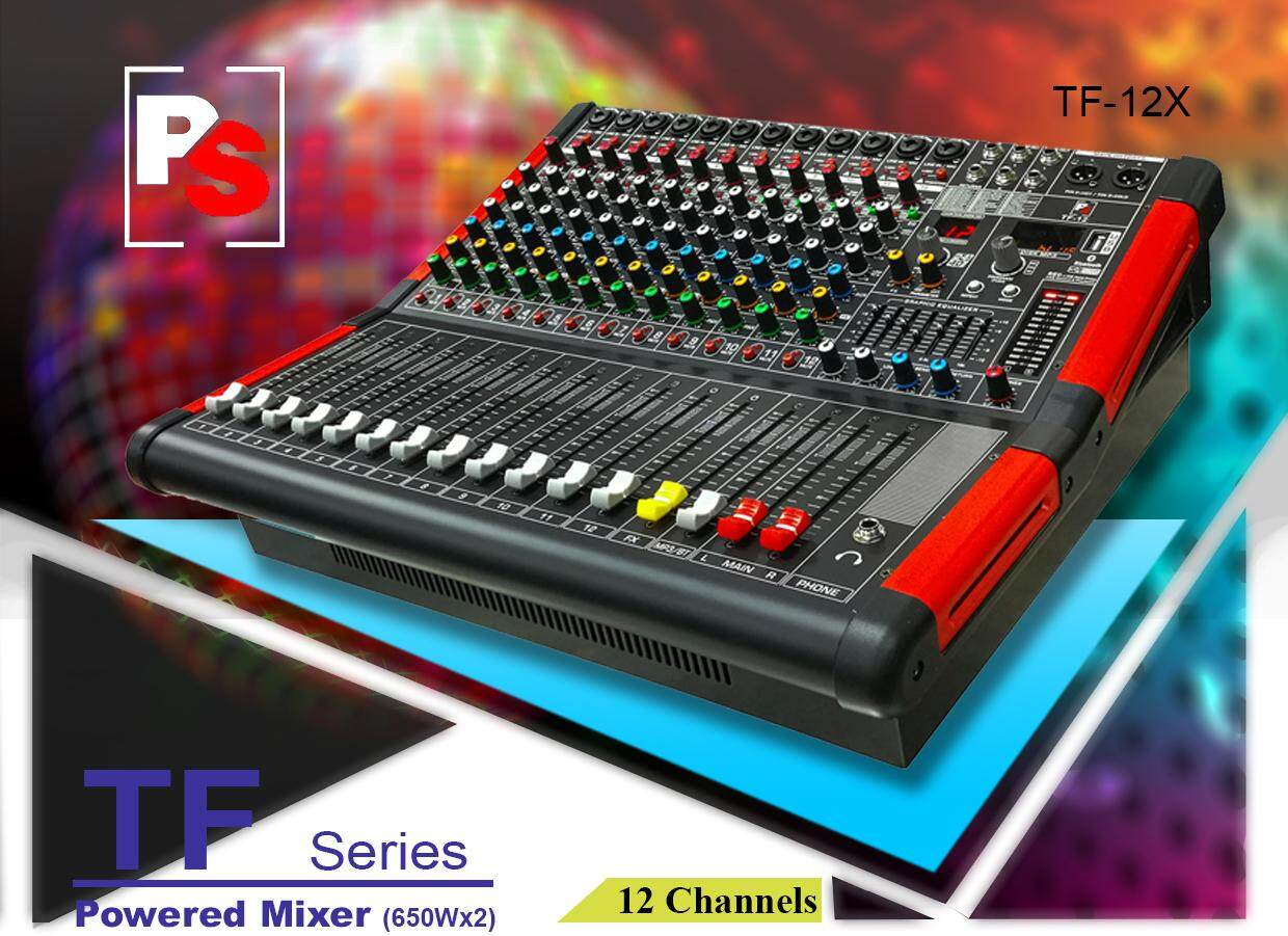 PS Pro Sound Stage Audio TF-12X Professional Powered Mixer (650Wx2)