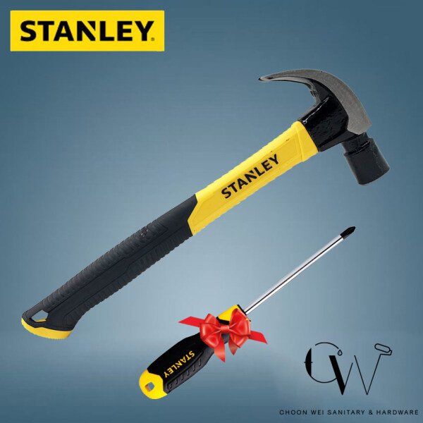 STANLEY Heavy Duty Fiber Handle Claw Hammer STHT 51-391 FOC STANLEY Screw Driver