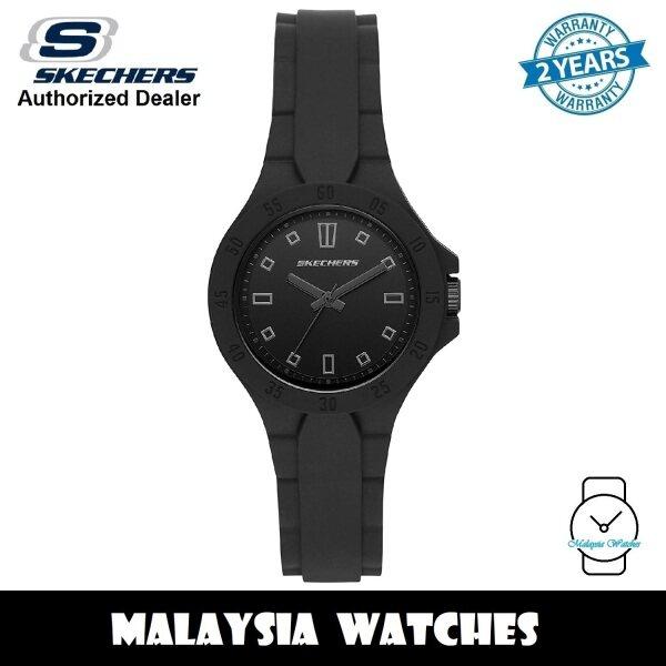 (OFFICIAL WARRANTY) Skechers SR6196 Womens Altavan Quartz Analog Black Silicone Strap Watch (2 Years Warranty) Malaysia
