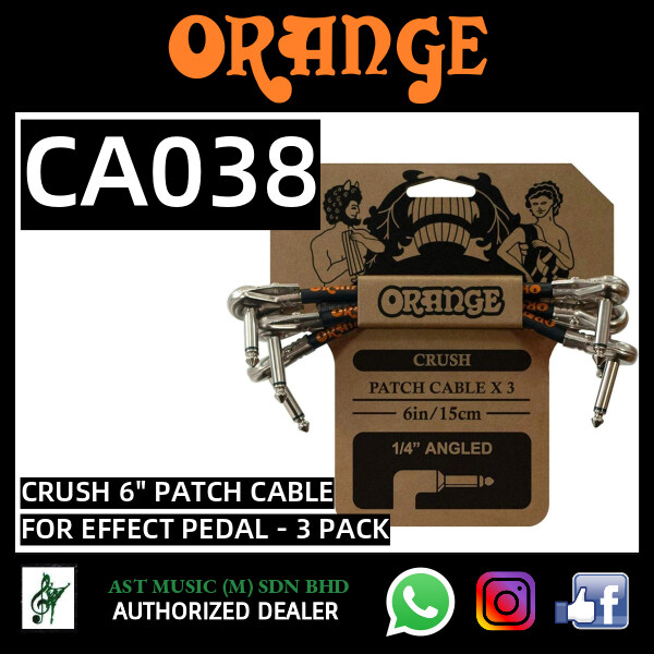 Orange Crush 6 Patch Cable for Effects Pedal Malaysia