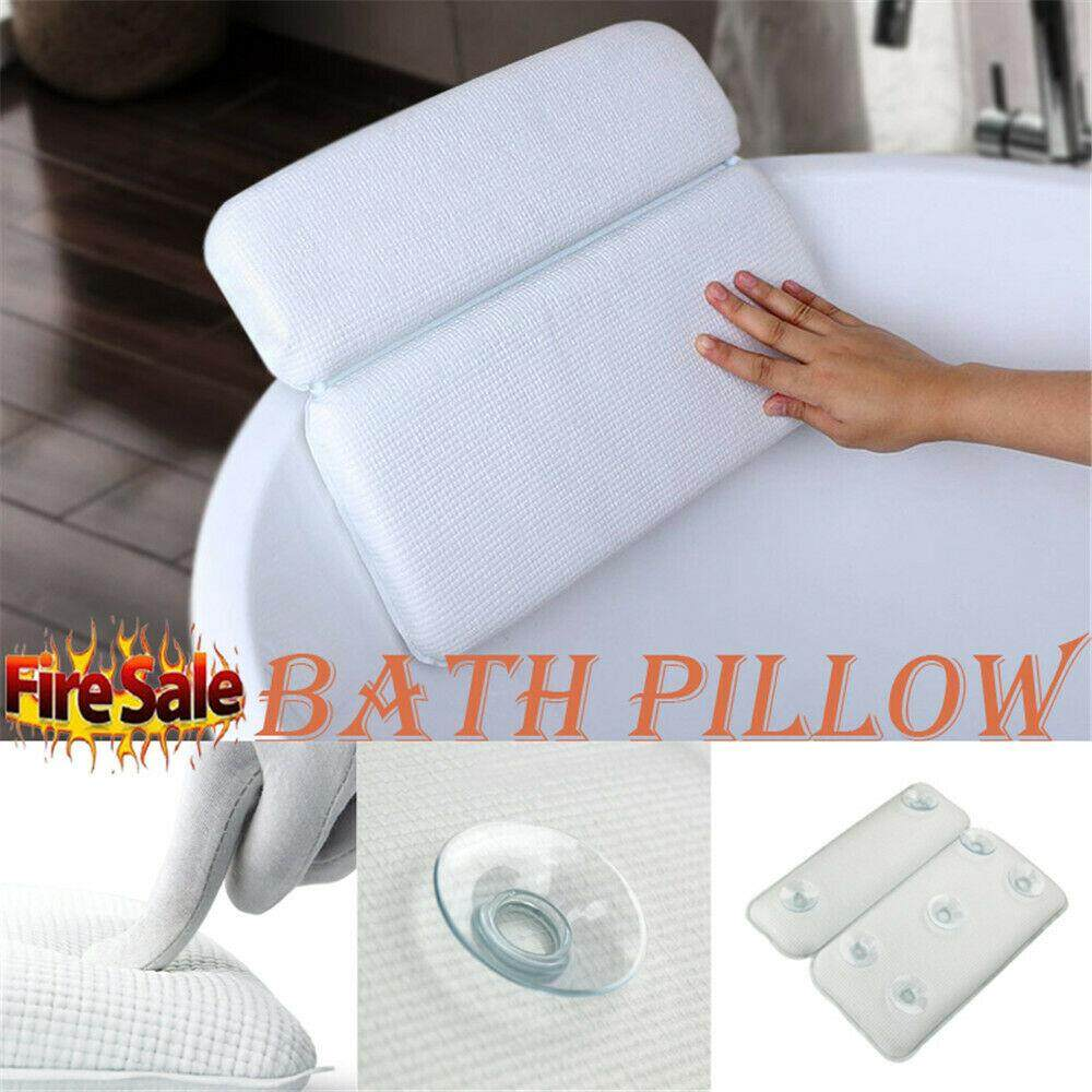 Anti-slip Bathtub Pillow With Suction Cup Spa Bath Cushion Head Neck Rest Relax