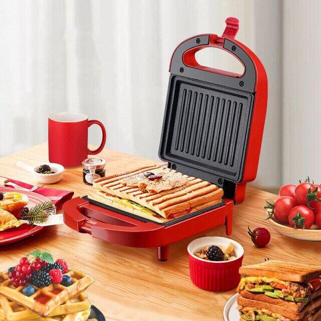Máy Làm Bánh Sandwich 220V, Máy Làm Bữa Sáng, Lò Nướng Bánh Trứng Sandwichera Máy Điện Đa Năng EU/ Phích Cắm Kiểu Anh