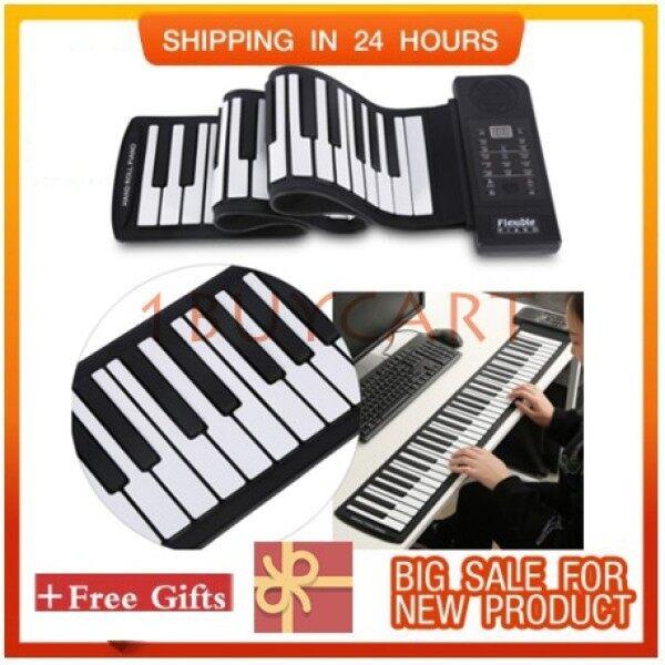 Electronic Digital Music Keyboard Piano 61-Keys Roll up Soft Silicone Flexible Malaysia