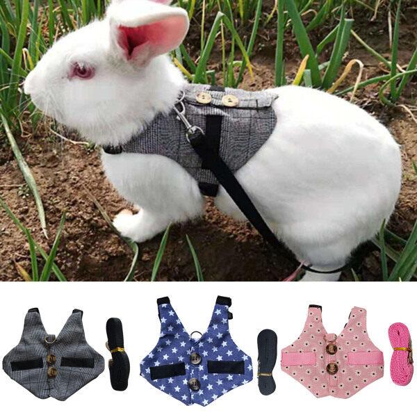Dây Đeo Ngực Cho Thú Cưng Bằng Vải An Toàn Đi Bộ Thiết Kế Áo Ghi Lê Quý Ông Dây Đeo Ngực Cho Thỏ