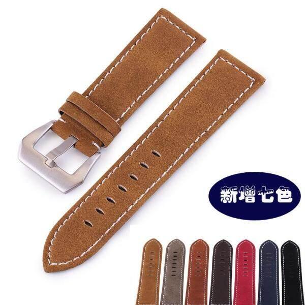 18/20/22/24mm Handmade Tẩy Tế Bào Chết Da Bò Dây Đồng Hồ Cao cấp nam nữ dây đồng hồ Dây Khóa