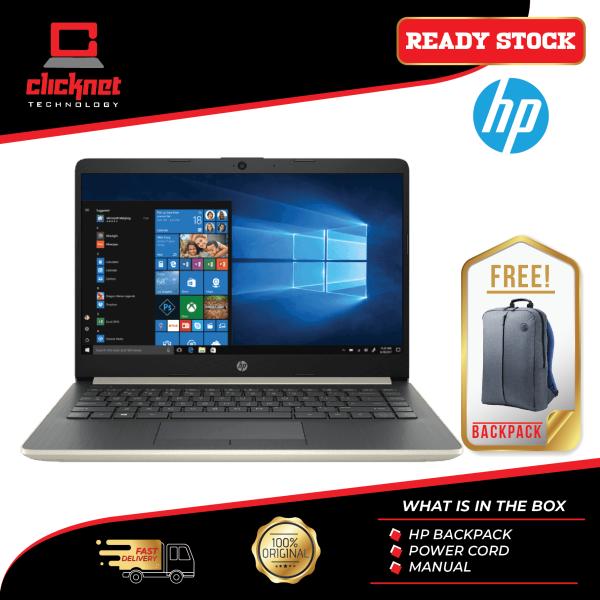 HP Laptop 14s-Dk0000AU 14  Pale Gold (A6-9225, 4GB, 500GB, W10, Integrated) Malaysia
