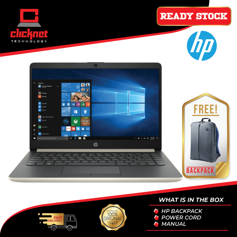 HP Laptop 14s-Dk0000AU 14  Pale Gold (A6-9225, 4GB, 500GB, W10, Integrated) Malaysia
