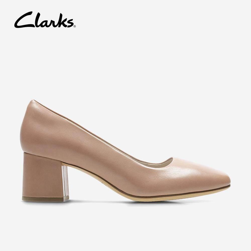 8d5123fb Clarks Womens Dress Sheer Rose Fashion Comfortable Block Heeled Shoes