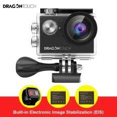 Rồng Cảm Ứng Vision 4 4 K/30FPS, 2.7 K/30fps, 1080 P/60FPS EIS Camera Hành Động 16MP Hỗ Trợ Mic Ngoài Máy Ảnh Chụp Dưới Nước Điều Khiển từ xa Wifi Máy Camera với 2 pin và Phụ Kiện Lắp Đặt Bộ