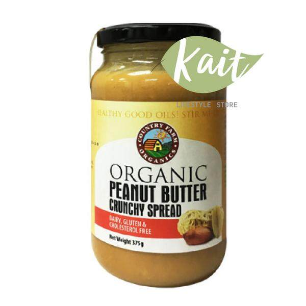 Country Farm Organic Peanut Butter Crunchy (375g) By Kait Lifestyle Store.