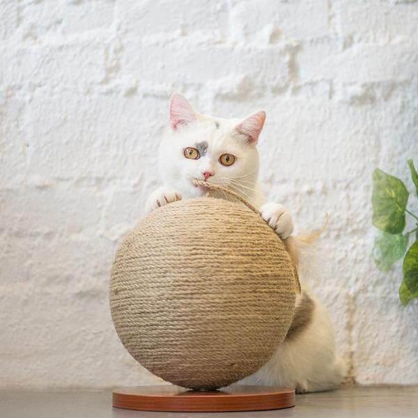20*20*24 Cm Nhỏ Hình Cầu Mèo Bắt Đồ Chơi, mèo Mài Móng Vuốt Bóng Sisal Mèo Bắt Bóng Mèo Leo Núi Cát Đồ Cho Thú Cưng