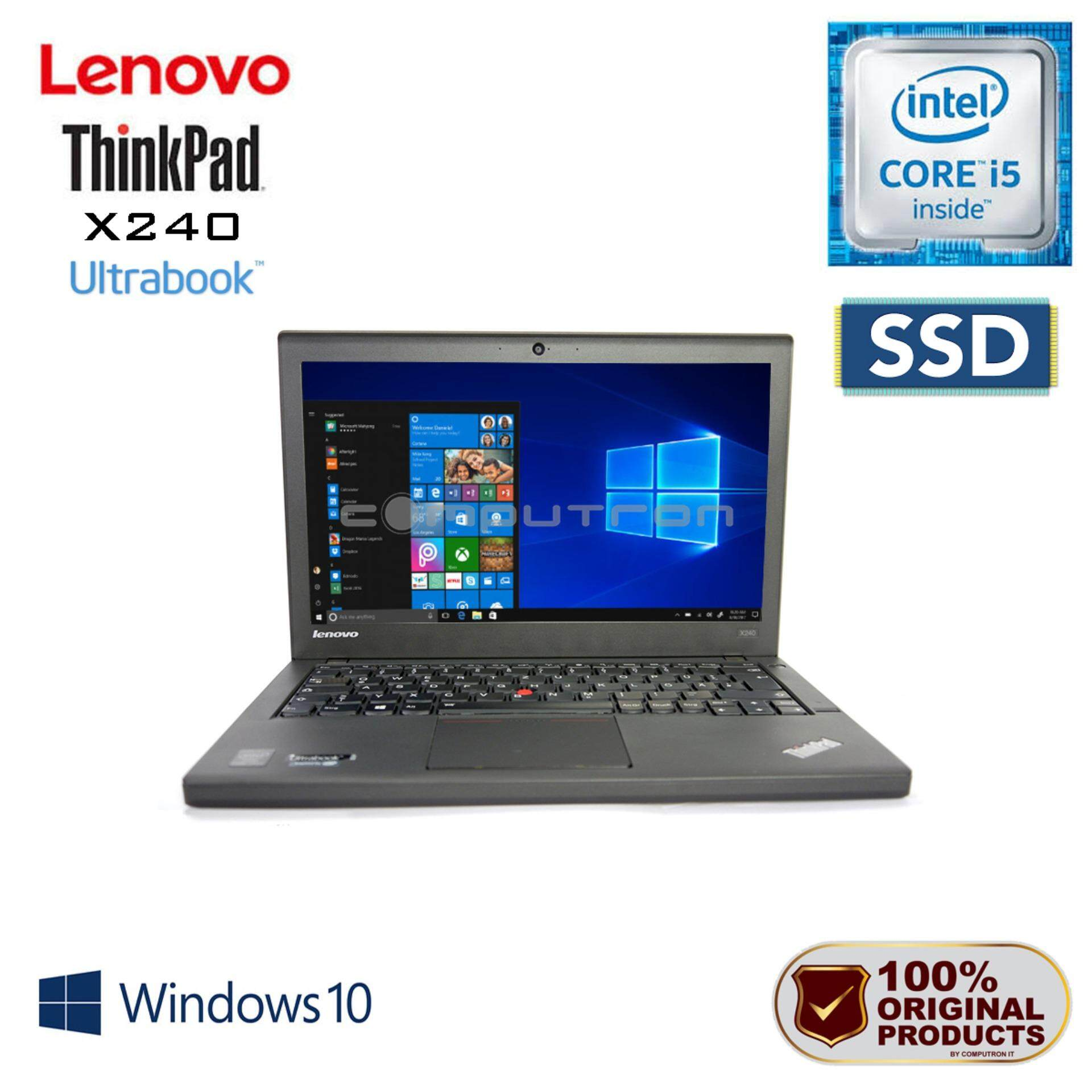 LENOVO THINKPAD X240 CORE I5 / 4GB RAM / 128GB SSD / W10PRO  [ 1 YEAR WARRANTY ] Malaysia