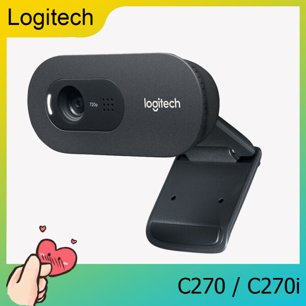 [Ready to Ship] Logitech C270 / C270i Android TV Box HD Webcam 720 Built-in Microphone for PC Laptop Computer