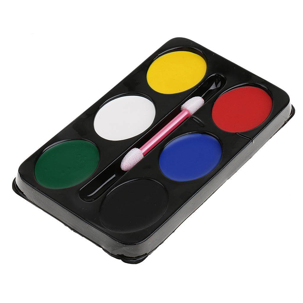 Fenteer Festival Party 6 Colours Make Up Face Body Paint Palette Fancy Painting Kit