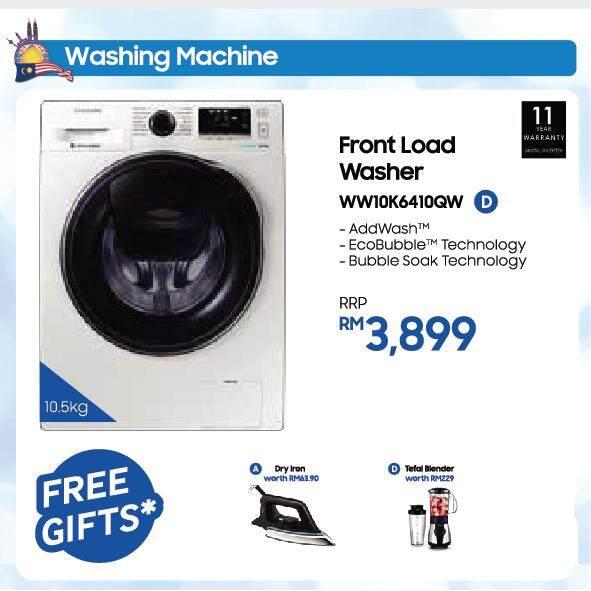 Front Load Washer with AddWash, 10.5kg (WW10K6410QW)