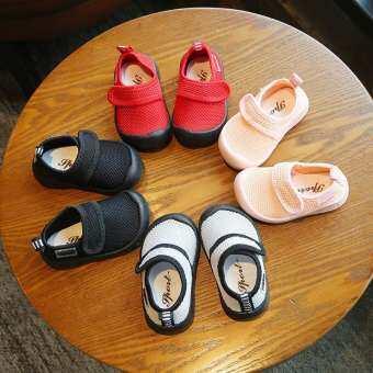 แฟชั่นเด็กรองเท้าลำลองด้านล่างที่อ่อนนุ่ม Velcro Flats 0-5 ปี-