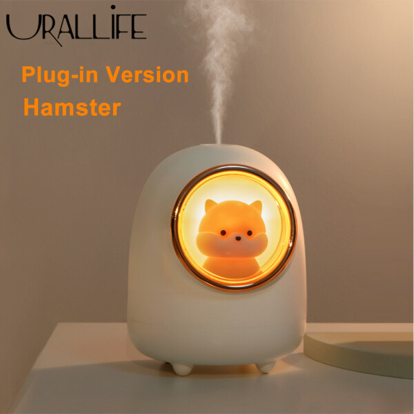 Xiaomi Ecological Chain Urallife Air Humidifer Cute Cat Hamster Space Capsule Shape Water Diffuder USB Rechargeable/Plug-in With Romantic Colorful Night Light Mist Maker Low Noise Automatic Power Off Fog Sraying Device For Home Office Dormitory Bedroom