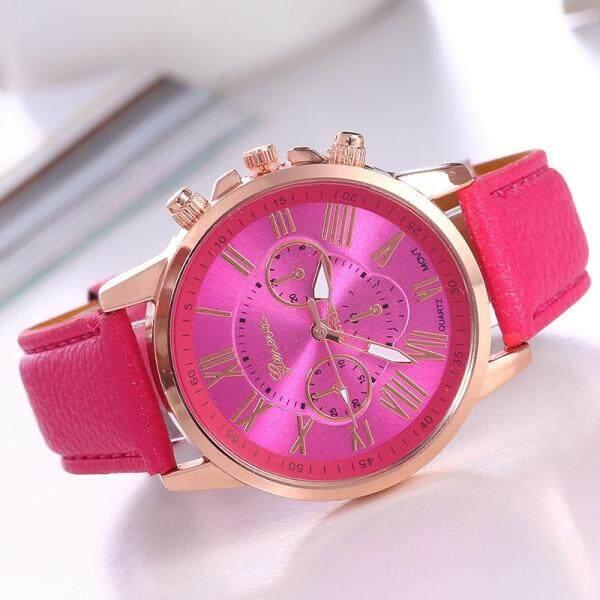 Tanoshiis Picks Luxury Design Women Faux Leather Watch GNV002 Malaysia