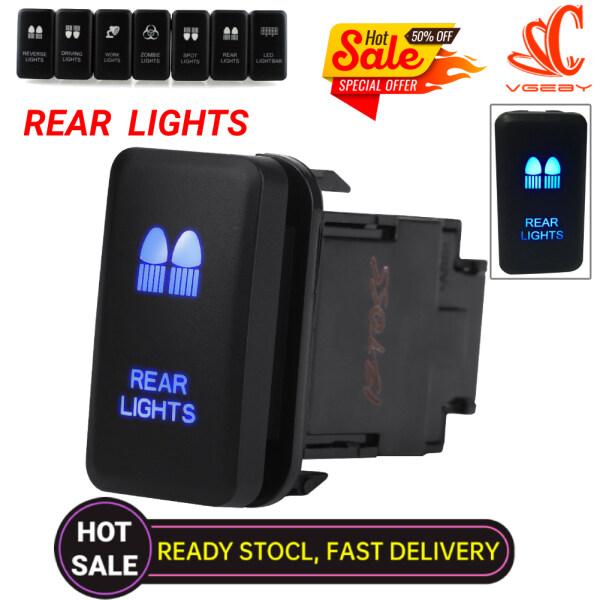 【Giảm Giá Chớp Nhoáng!!!】 Công Tắc Bật Tắt Rocker Tự Động Tắt Đèn LED Màu Xanh Lam 12V Cho Ô Tô Đèn Hậu Cho Toyota Hilux Landcruiser
