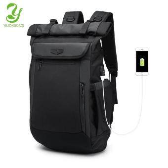 Yiliongdaqi ใหม่ผู้ชายกระเป๋าเป้สะพายหลังมัลติฟังก์ชั่ USB ชาร์จแล็ปท็อปกระเป๋าแฟชั่นกระเป๋านักเรียน
