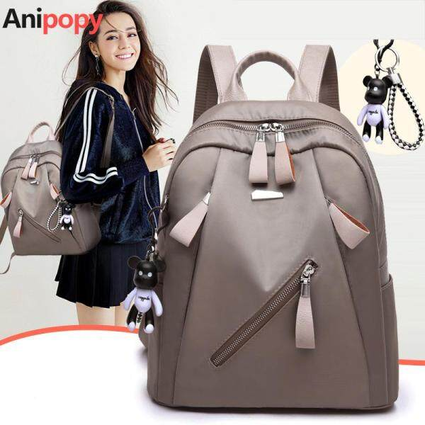 Anipopy Fashion Women Backpack Casual Daypack  with Cute Bear Keychain