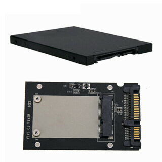 1 Bộ Chuyển Đổi Vỏ Kim Loại MSATA SSD Sang 2.5 SATA, Bộ Chuyển Đổi Vỏ Hộp SSD thumbnail