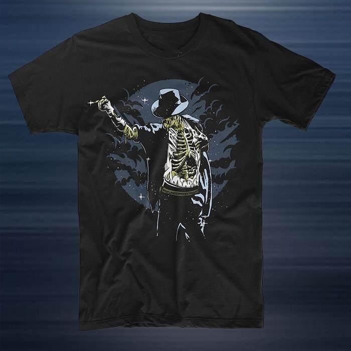 Michael Jackson Top Zombie Pop King Night Skeleton Thriller Moonwalk Men  Casual Cotton T Shirts b3b0ec48c750