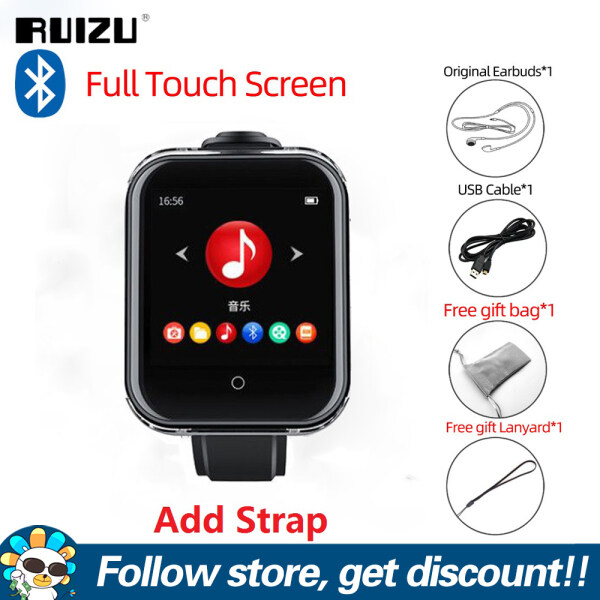 RUIZU M8 Bluetooth MP3 Player 8GB MP3 Music Player  With Full Touch Screen 1.54 Inch Smart Watch MP3 Wearable Mini Portable Sport  Player Support FM Radio Voice Recorder E-Book Picture Pedometer Video Player