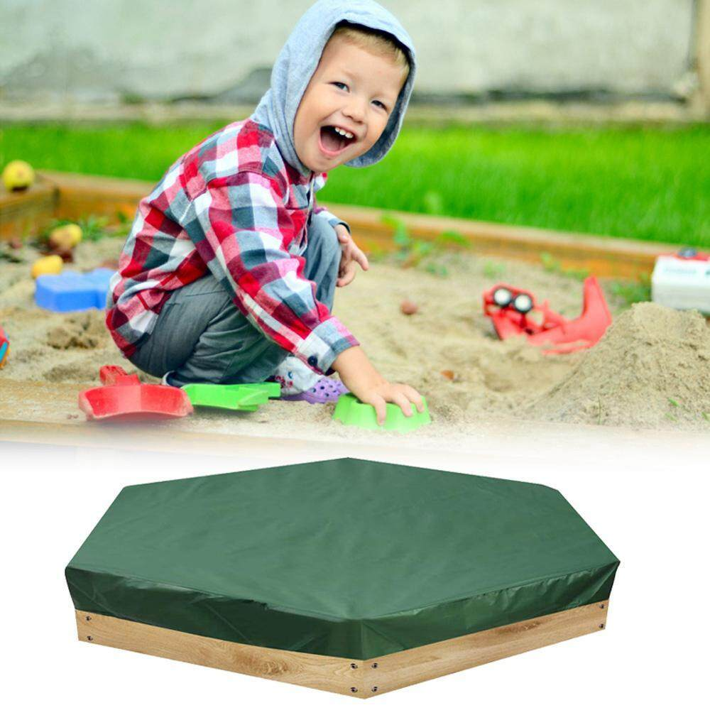 GoodGreat Hexagon yard beach toys pool Green Cover 90% UV-Anti Dust Protection Outdoor Garden Hexagonal Wooden Sand Box Sand Pit Cover Tarpaulin