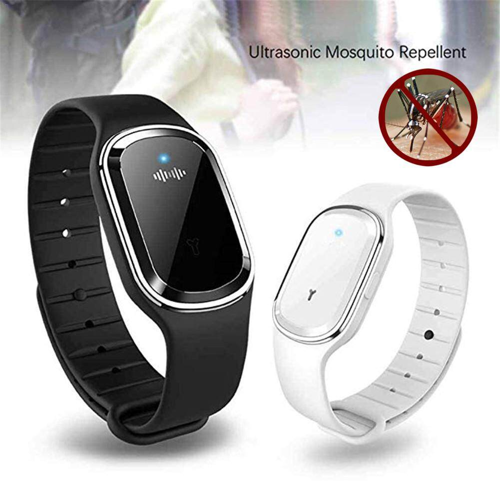 Eco-friendly Non Toxic Mosquito Repellent Bracelet Kids USB Charging  Camping Watch Ultrasonic Smart Bracelet