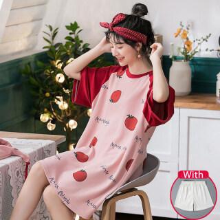 IHOME Cuộc Sống Áo Choàng Tắm Silk Nữ Đồ Ngủ, Váy Đầm Ngắn Tay Đi Spa Ngoại Cỡ Vải Cotton Mềm Dáng Rộng In Hình Hoạt Hình Thời Trang Trên Bán Áo Ngủ Nhẹ Tại Nhà Thường Ngày Hàn Quốc 2021 Mới thumbnail