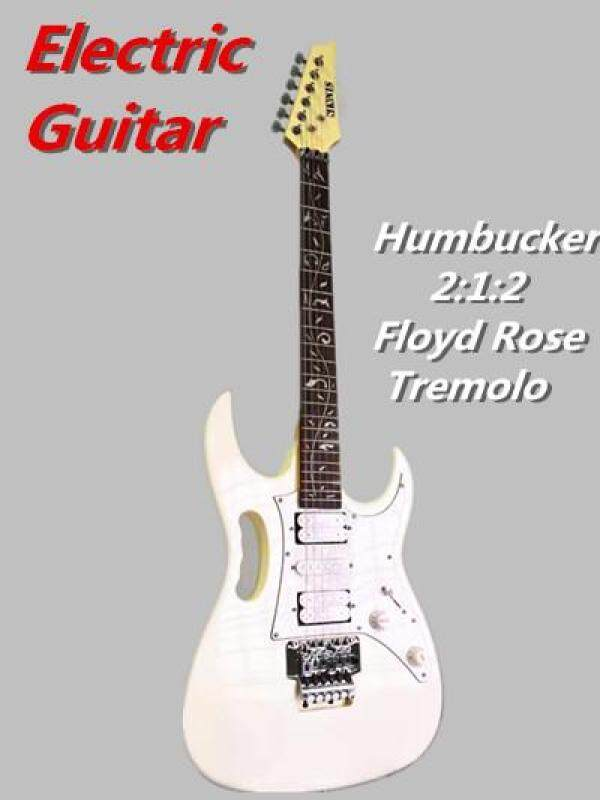 Factory Clearance Electric Guitar Humbucker Pick Up Floyd Rose Tremolo White Malaysia