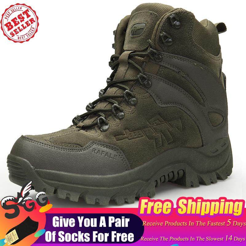 997d0126ef6b Free Shipping Tactical Military Combat Boots Men High quality US Army  Hunting Trekking Camping Mountaineering Winter