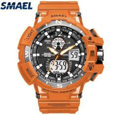 Mới SMAEL thể thao đồng hồ thạch anh đôi màn hình đồng hồ nam ĐÈN LED kỹ thuật số Đồng hồ thạch anh đa năng nam thương hiệu hàng đầu cao cấp đồng hồ kỹ thuật số Đồng Hồ Relogio Masculino 1376