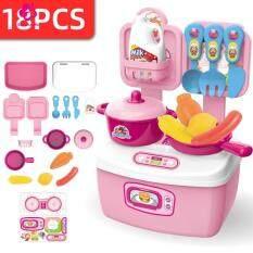 Baby-bala Mall đồ chơi trẻ em giả vờ bàn ăn bàn trang điểm dụng cụ y tế hộp lưu trữ Bộ đồ chơi giáo dục