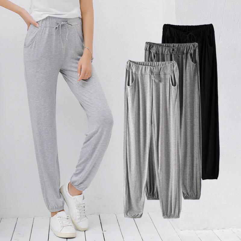 Pwae Plus Size Womens Pants New Loose Casual Pants Womens Yoga Fitness Wide Leg Pants Sports Nine Points Leggings Women.