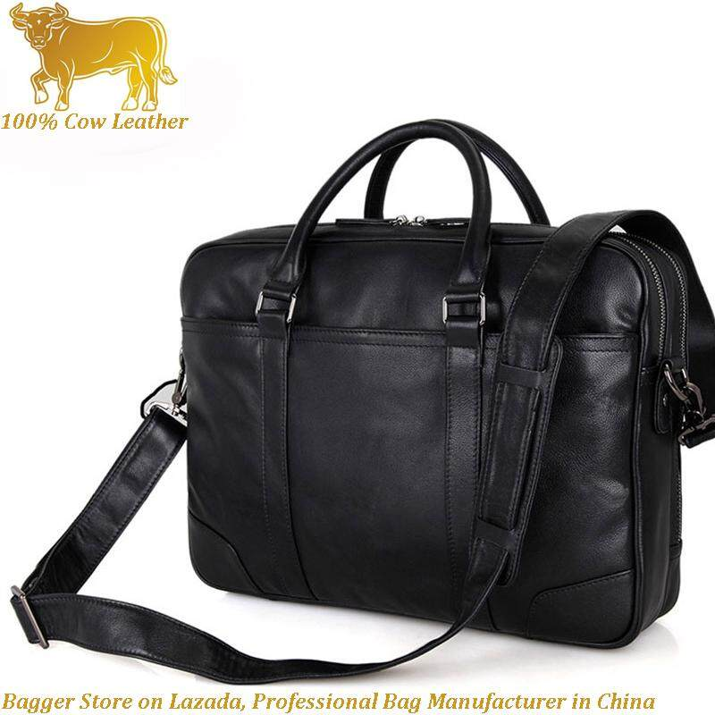 1 x 100% New Cow Leather Cowhide Mens Bag Handbag Business 15 Inch Computer Briefcase Bags For Men