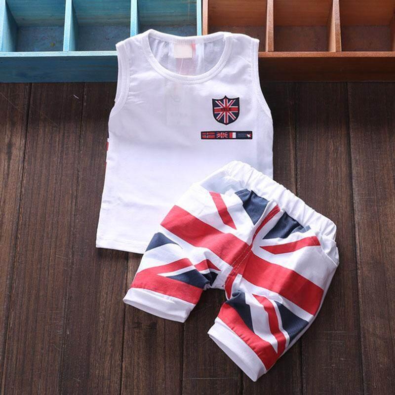 Baby Girls Cotton Vest Top Clothes + Pants Shorts 2pcs Suit By Ropalia Store.