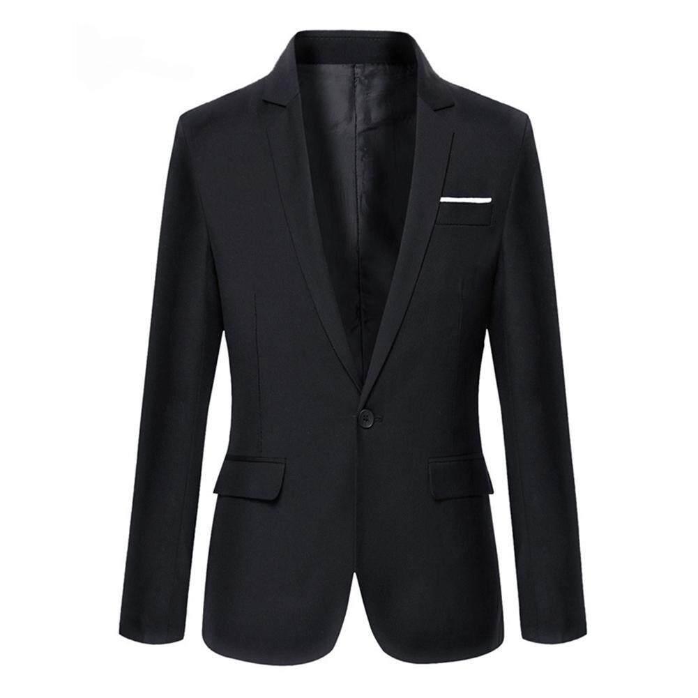 dcd7a13a8eabb Men Fashion Slim Fit Formal One Button Suit Blazer Coat Jacket Outwear Tops