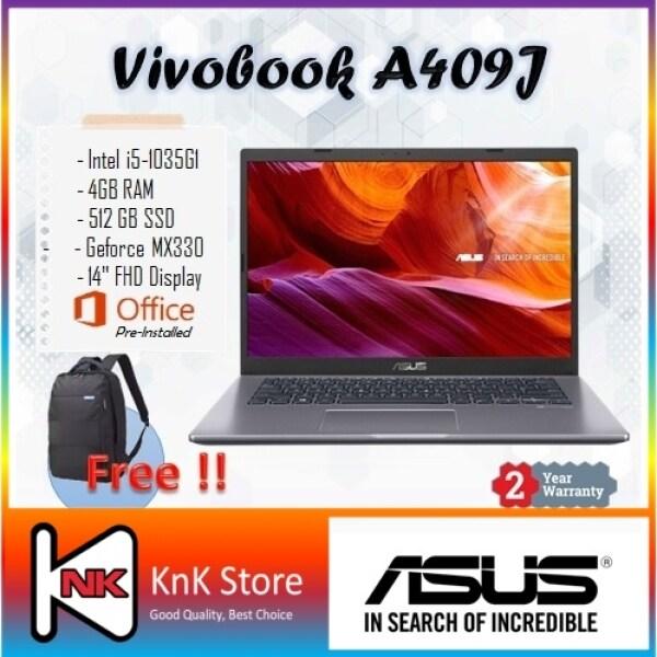 Asus Laptop Vivobook A409J-PEK049TS 14 Slate Grey ( i5-1035G1, 4GB, 512GB SSD, MX330, W10, MS OFFICE) Malaysia