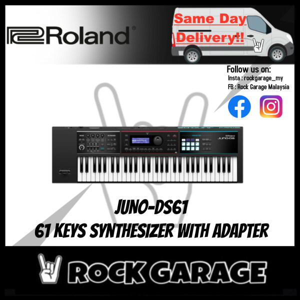 Roland JUNO-DS61 - 61 Keys Synthesizer with Adapter (JUNO DS61/JUNODS61) Malaysia