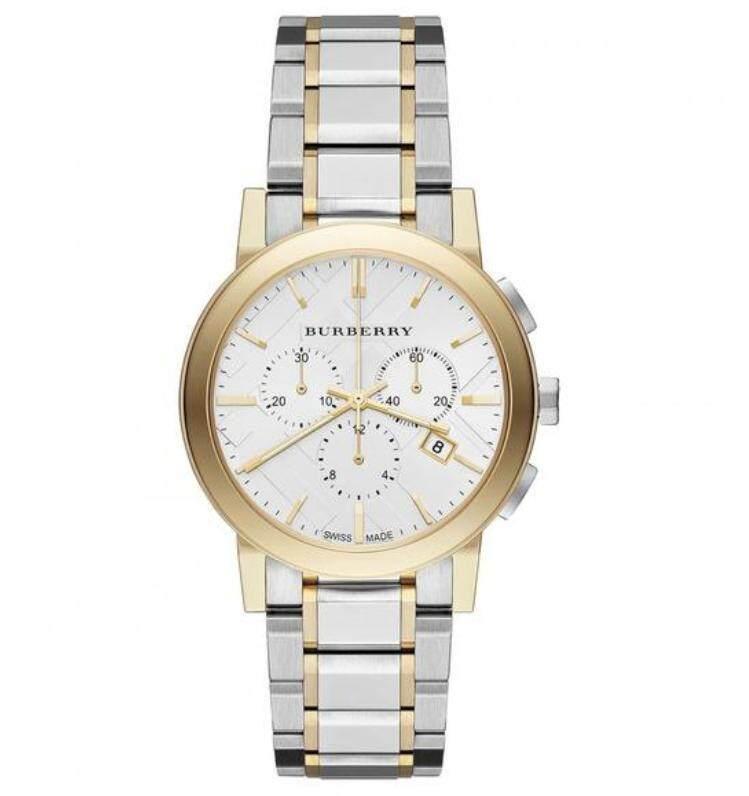 Burberrys เมือง Two - Tone Chronograph นาฬิกาสำหรับทุกเพศ Bu9751 By Java Trade.