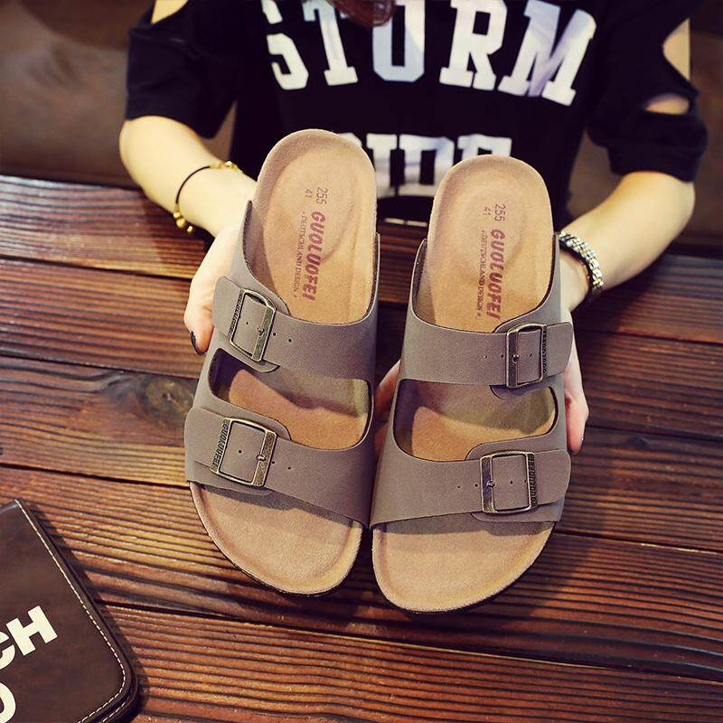 b822fb2734cb Guoluofei Sandals man Summer Fashion Leisure Extra Large Cork Slippers Men  And Women Couples Anti-
