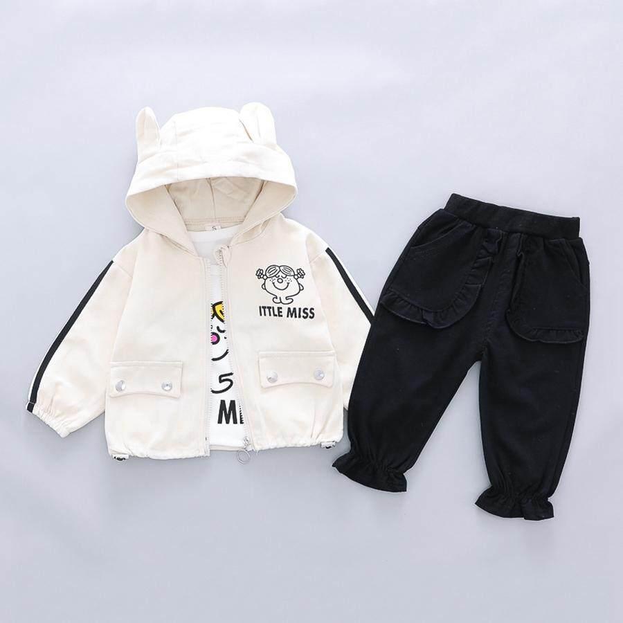 Quần áo trẻ em Bộ 3 quần Plus áo khoác và áo khoác bé trai quần áo bé gái