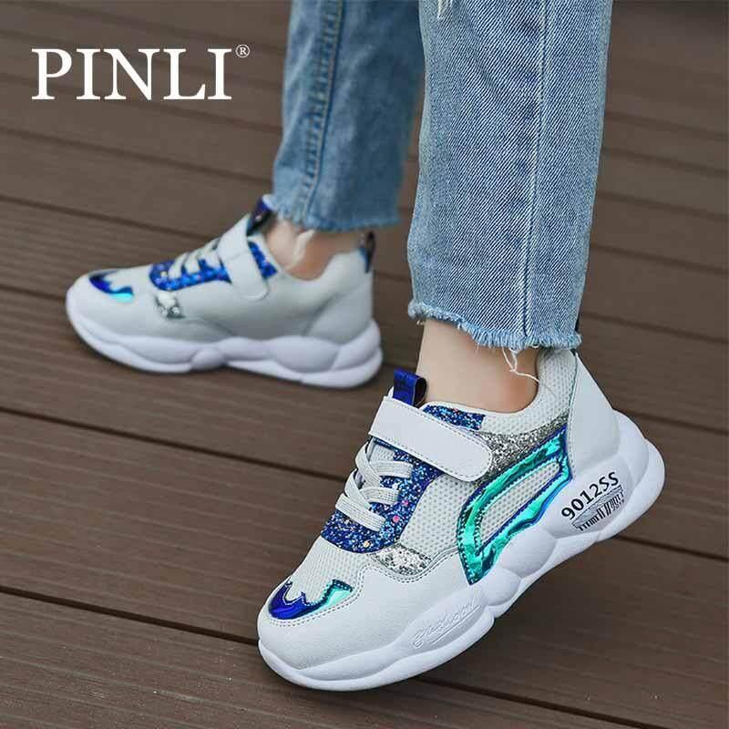 Giá bán PINLI Nữ Mới Giày Lưới Kim Sa Lấp Lánh Thoải Mái Thoáng Khí Giày Thể Thao 26-37
