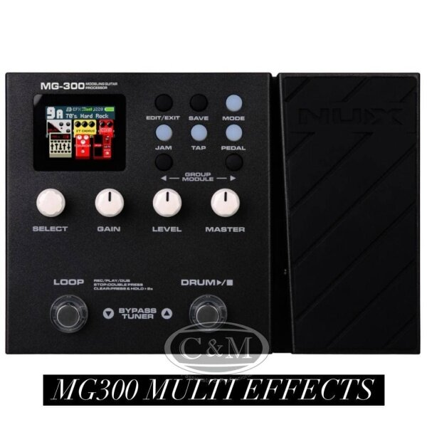 NUX MG300 Guitar Modelling Processor Multi Effects Pedal (MG-300/MG 300) Malaysia